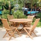 מערכת ישיבה למרפסת ולגינה מעץ טיק מלא דגם טרופי