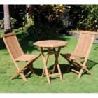 מערכת ישיבה זוגית למרפסת ולגינה מעץ טיק מלא דגם דואט