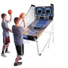 מתקן כדורסל אלקטרוני זוגי מתקפל כולל 4 כדורים