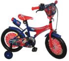 אופני ספיידרמן BMX  כולל גלגלי עזר ממידה 12 עד 18